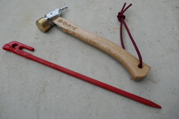 スノーピークのペグハンマーをなくしました。村の鍛冶屋 エリッゼアルティメットハンマーを購入。