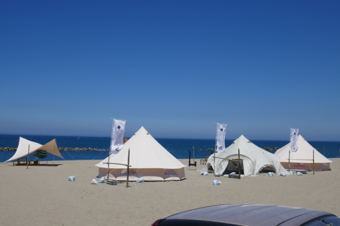 海から超近い新潟初のビーチグランピングを見た! SUNSET CAMP FIELD サンセットキャンプフィールド※所在地変更あり