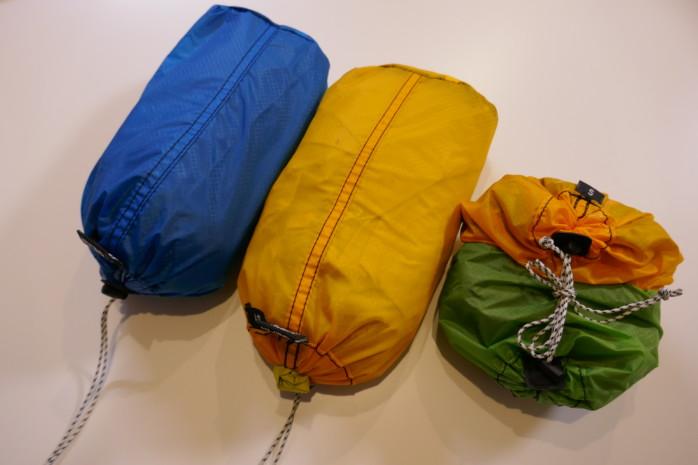 グラナイトギア エアペア&エアバッグでザック内の小物を整理整頓