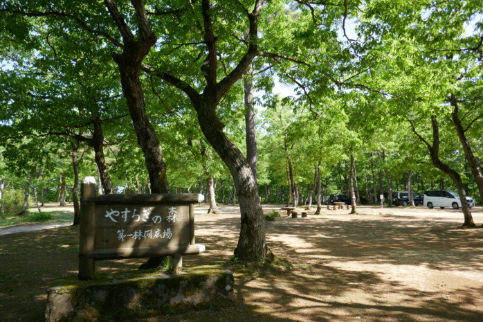 長岡市『おぐに森林公園』歩いていける温泉と林間フリーサイトが人気のキャンプ場