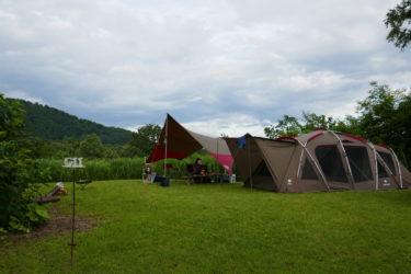 無印良品 津南キャンプ場 管理棟に近い穴場のGエリア、静かで広いサイトに満足