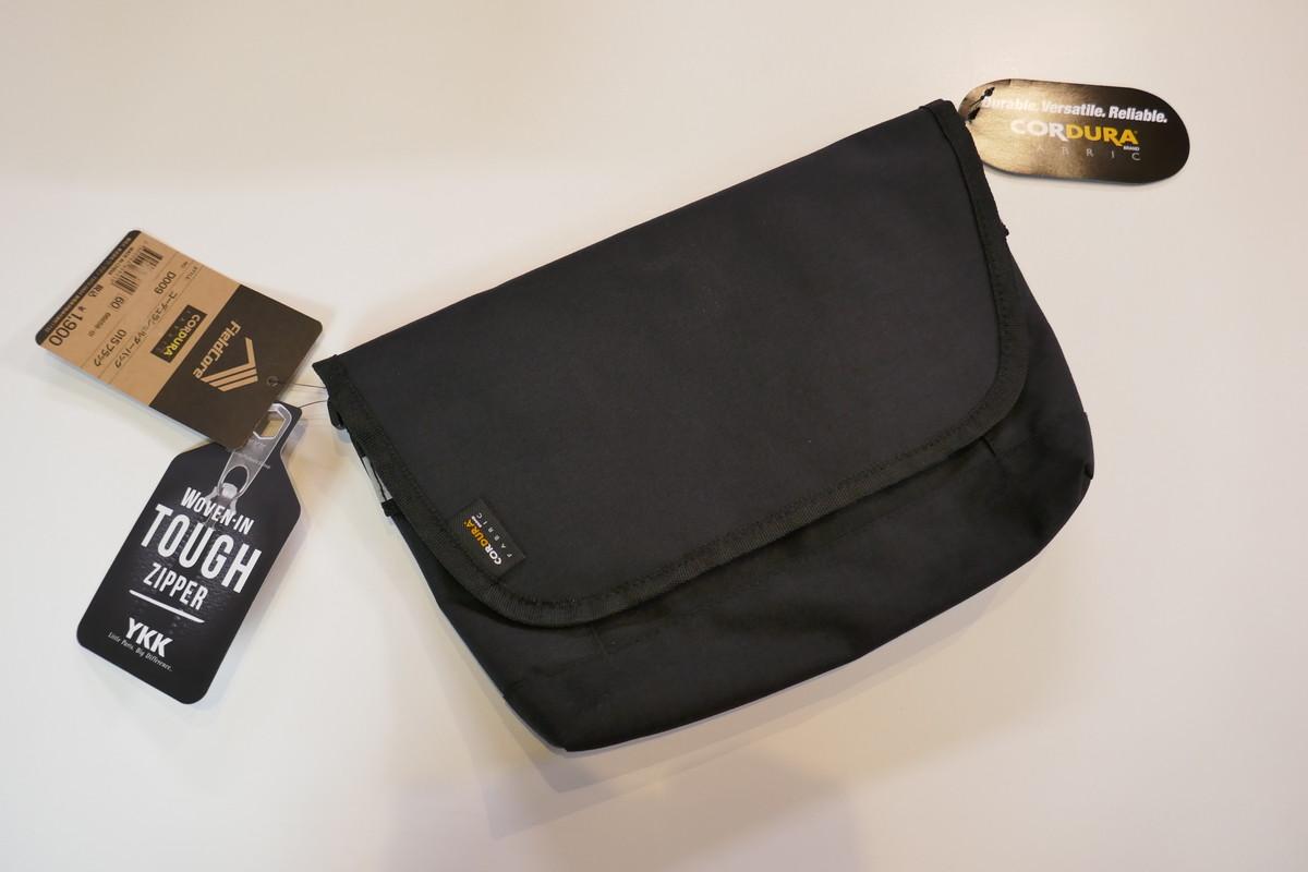 WORKMANワークマン CORDURA(R)コーデュラショルダーバッグ。マスクや消毒用ボトルをスマートに収納。