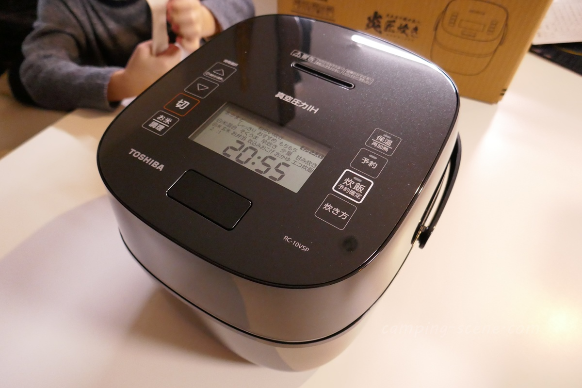 お手頃価格のスタイリッシュ炊飯器を購入。東芝 真空圧力IH炊飯器 炎匠炊き RC-10VSP・5.5合炊き